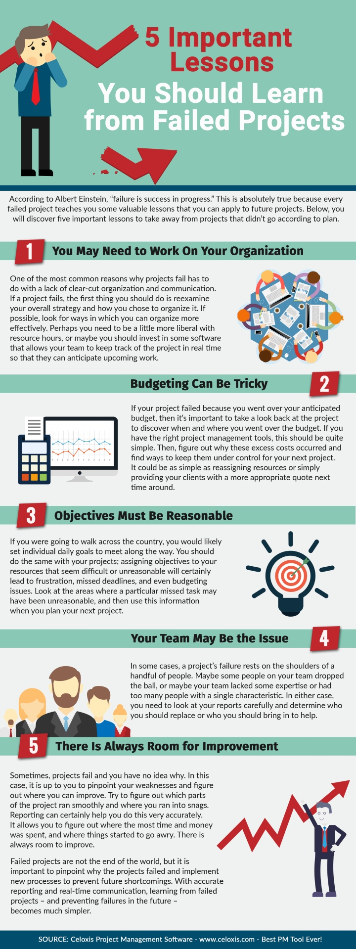 Infographic: 5 Important Lessons You Should Learn from Failed Projects