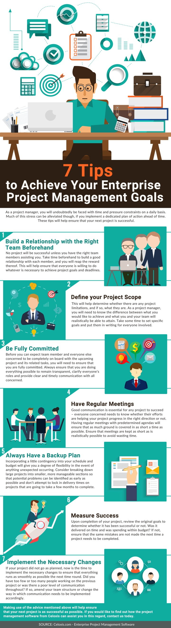 Infographic: 7 tips to achieve your enterprise project management goals