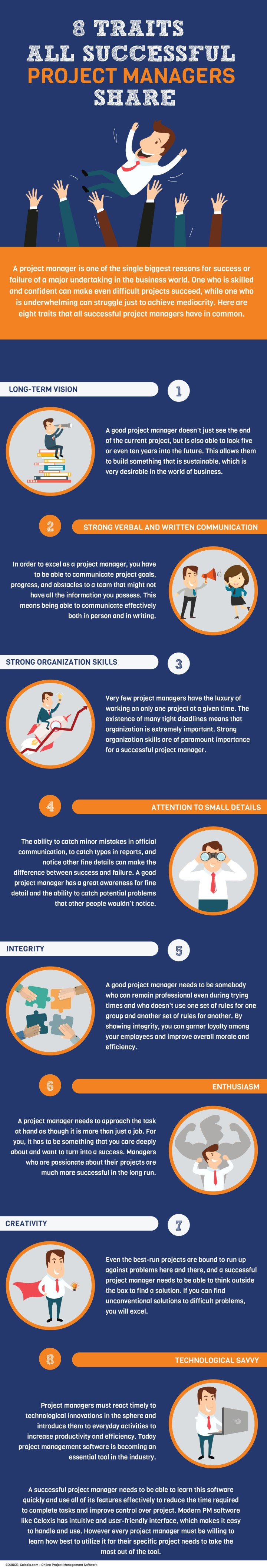 INFOGRAPHIC: 8 Traits All Successful Project Managers Share
