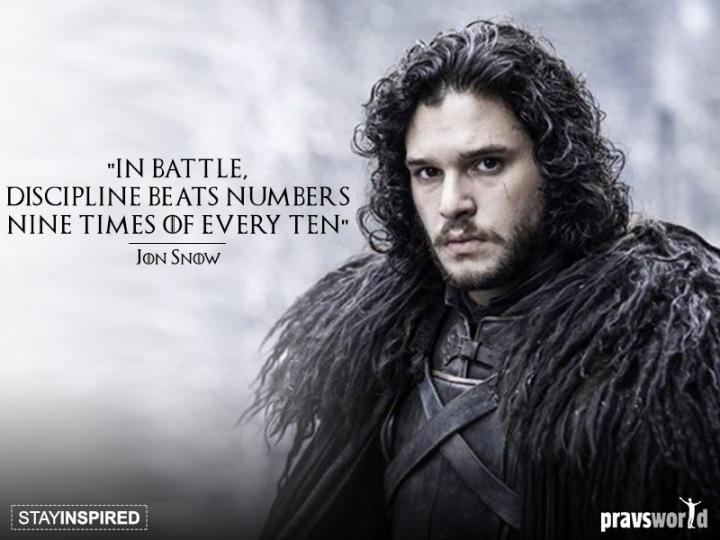 Game of Thrones Jon Snow Quote