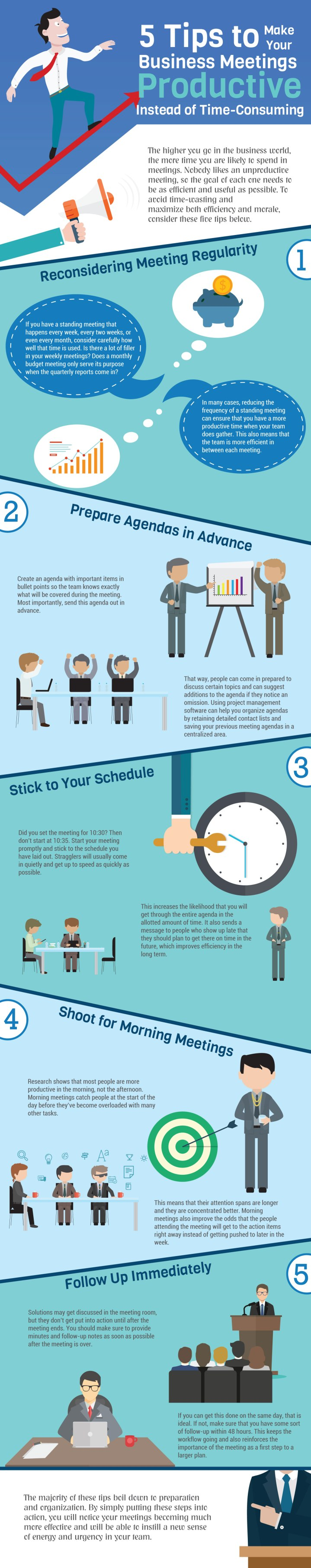 INFOGRAPHIC: 5 Tips to Make Your Business Meetings Productive Instead of Time-Consuming