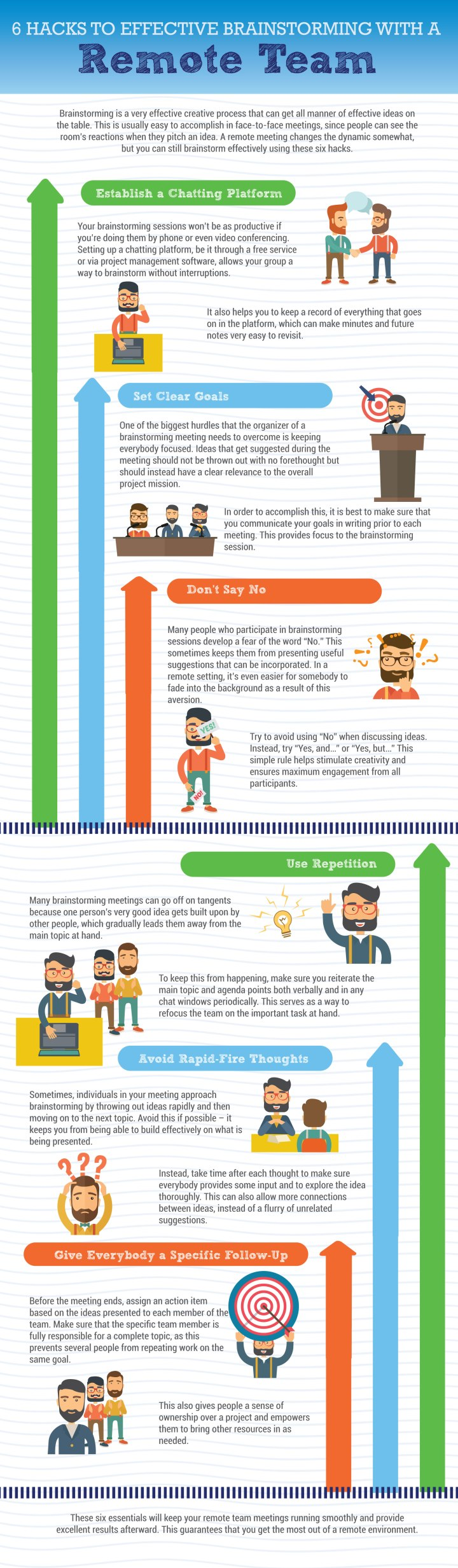 INFOGRAPHIC: 6 Hacks to Effective Brainstorming with a Remote Team