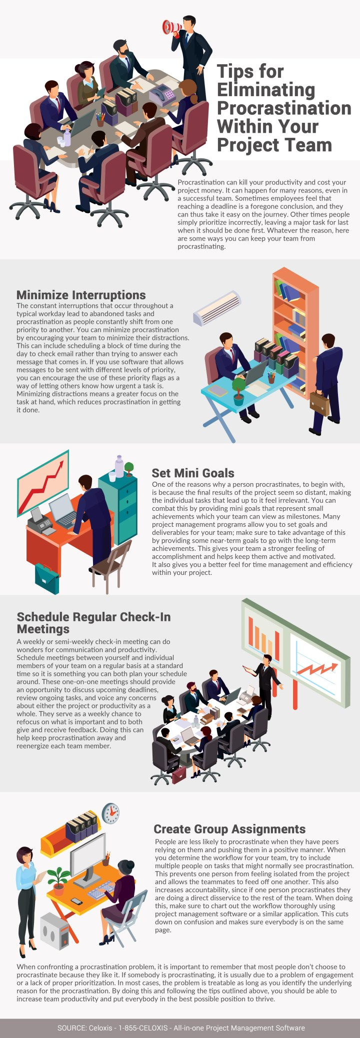 INFOGRAPHIC: Tips for Eliminating Procrastination Within Your Project team